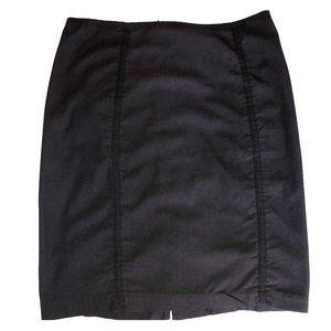 Studio M Black Mini Pencil Skirt, Size 4
